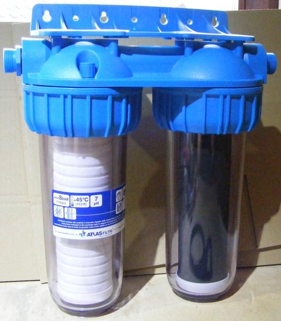 Filtro de agua doble de 10 marca atlas filtri italiano for Atlas filtri anticalcare